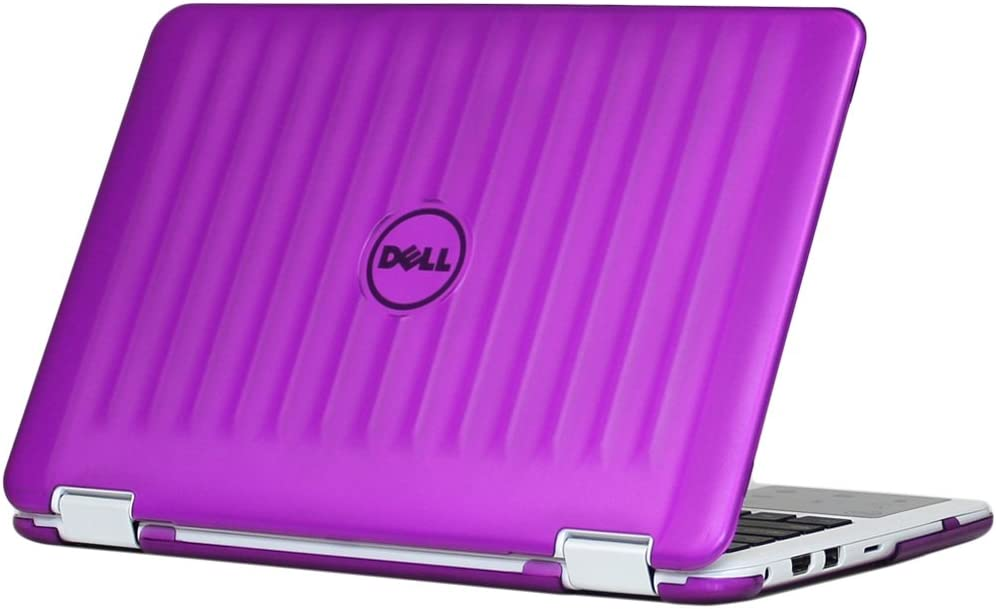 "mCover Hard Shell Case for New 2018 11.6"" Dell Inspiron 11 3185 Series 2-in-1 Laptop (NOT Compatible with Older 11.6"" Inspiron 3000 Series Released Before 2018) (Purple)"