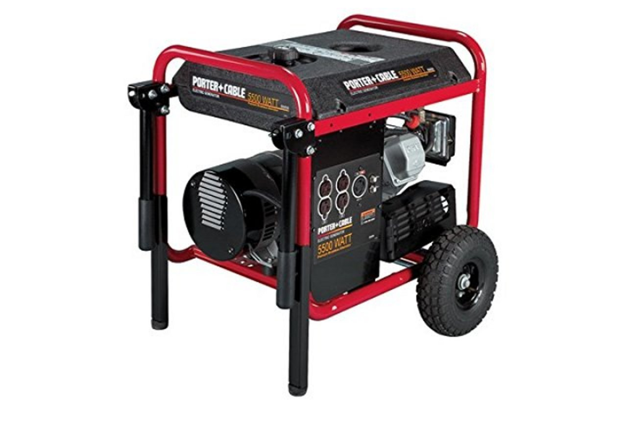 Amazon.com: Porter-Cable BSI550-W 5,500 Watt Generator with 10 HP Engine:  Garden & Outdoor