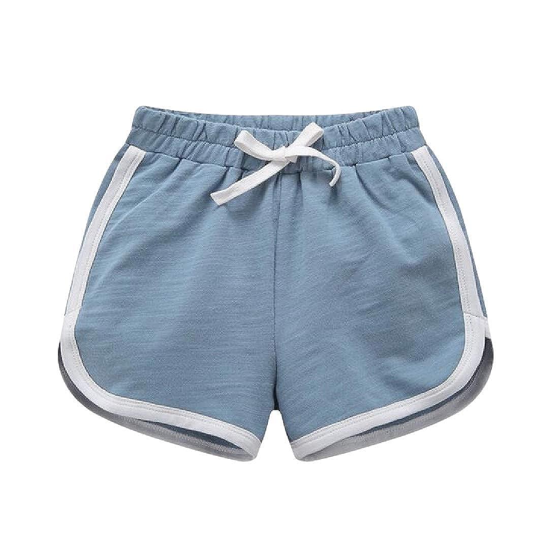 Etecredpow Girls Summer Boys Cotton Beach Sport Stripe Short
