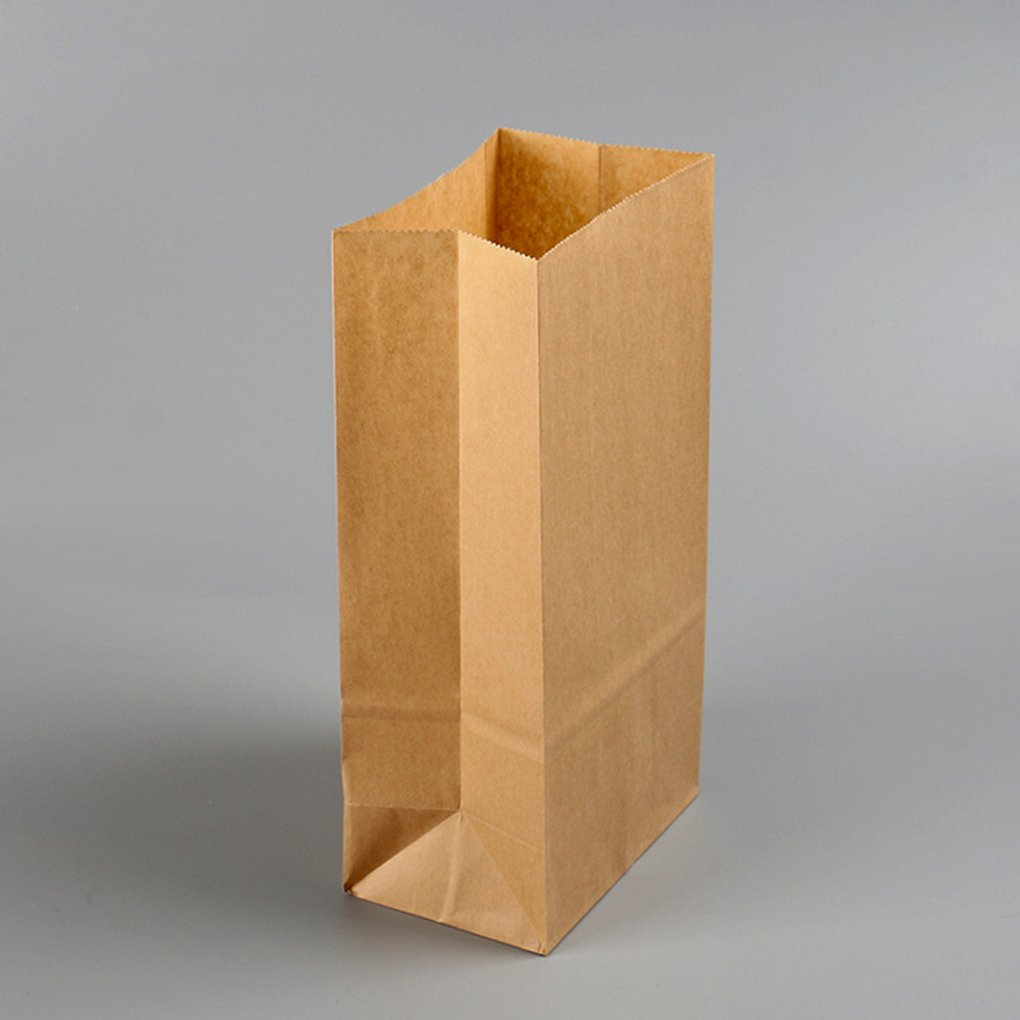 MuLuo 100pcs Kraft Paper Baking Oil-proof Takeaway Blank Food Packaging Bag Recyclable Jewelry Bread Shopping Party Bags by MuLuo (Image #4)