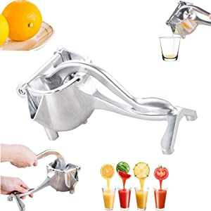 BRFPL Hand Juicer For Fruits Stainless Steel Manual Juicer Fruits Juicer Silver Juice, Detachable, Hand Steel