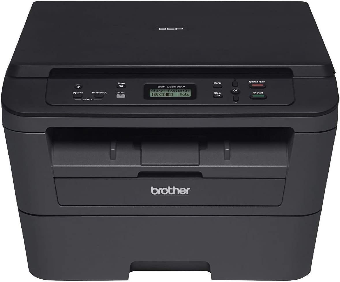 Brother Compact Monochrome Laser Printer, HLL2390DW, Convenient Flatbed Copy & Scan, Wireless Printing, Duplex Two-Sided Printing, Amazon Dash ...