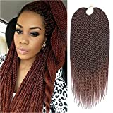Refined 7Packs 18Inch 30Stands/Pack Senegalese Twist Crochet Braids 16 Colors Avaliable for Black Women High Temperature Fiber Synthetic Braiding Hair Extensions(T30)