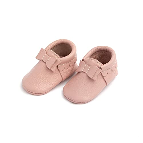5137dcd9ddd3e Freshly Picked - Soft Sole Leather Bow Moccasins - Baby Girl Shoes - Infant  Sizes 1-5 - Multiple Colors