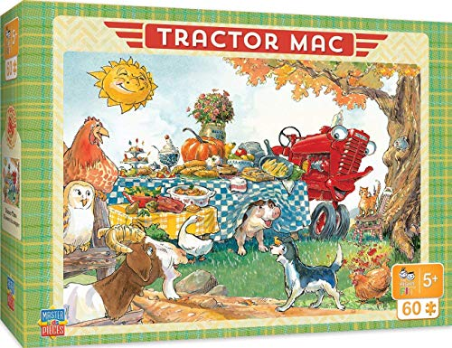 """MasterPieces The Right Fit Kids Tractor Mac Jigsaw Puzzle, Dinner Time, Tillywig Top Fun Award, 60 Piece, For Age 5+, 14""""x19"""""""