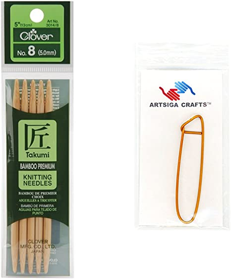 """YOU Choose The Size! Clover Takumi Bamboo Double Point Knitting Needles 5/"""""""