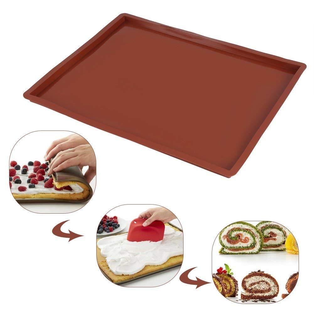 Toile Cuisine /& Ptis Plateau de Four pour macarons Inratables |Usage Recto//Verso Tapis de Cuission en Silicone R/ésistant /à la Chaleur Anti-Adh/érent Id/éale pour Macarons Cookies Sabl/és Meringues