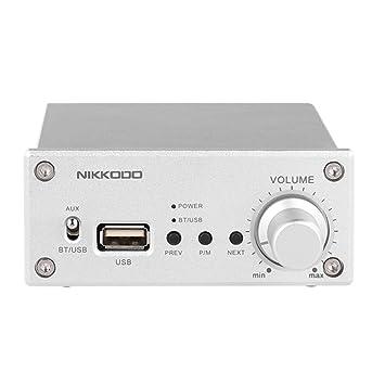 Docooler NIKKODO NK-368R Amplificador de Potencia de Audio Digital Bluetooth 4.0 Receptor de Audio HiFi de Alta Fidelidad Estéreo de DobleCanal 50W + ...