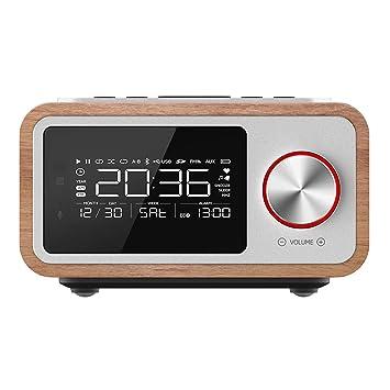 Mini Tragbare Holz Drahtlose Bluetooth Vintage Fm Radio Mit Schwere Bass Lautsprecher Unterstützung Tf Karte Unterhaltungselektronik