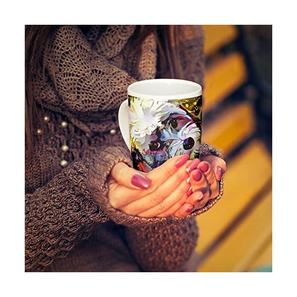 Westlake Art - Havanese Breed - 11oz Coffee Cup Mug - Abstract Artwork Home Office Birthday Christmas Gift - 11 Ounce (E0E3-C3B25) 3