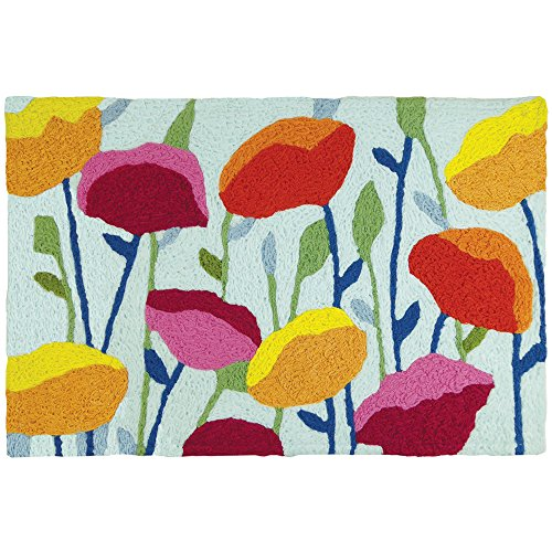 Jellybean Poppy Field Garden Indoor/Outdoor Machine Washable