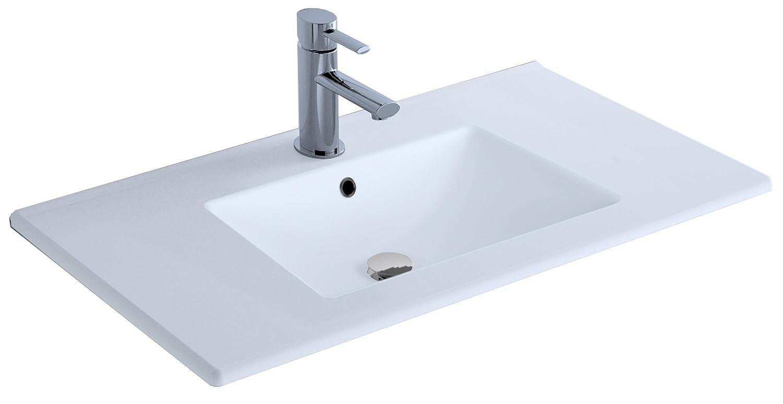 extra plat Lavabo en c/éramique de 80 cm Cygnus Bath