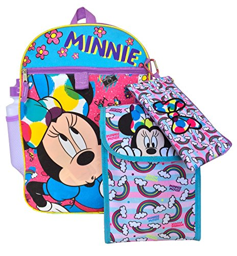 Rain-BOW-Tastic 5pc Minnie Mouse Backpack -