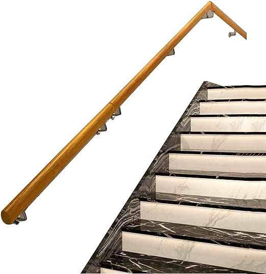 Barandilla Escalera Pasamanos Interior , Escalera Apoyabrazos Madera Antideslizante + Hierro Hogar contra la Pared Interior Desván Barandas para Ancianos balaustrada Pasillo Varilla de Soporte: Amazon.es: Hogar