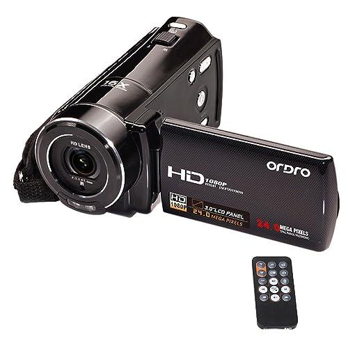 Andoer ORDRO HDV-V7 1080P HDV pleine HD Caméscope Vidéo Numérique Max. 24 mégapixels Zoom numérique 16 x avec rotation 3,0 écran LCD soutien