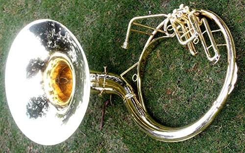 Sousaphone Brass Metal 20'' Bb SAI MUSICAL 3 VALVE WITH BAG MOUTH PIECE SHIP FAST by SAI MUSICAL (Image #3)