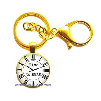 after christmas sale library key ringtime to read literary keychain gift for - Amazon After Christmas Sale