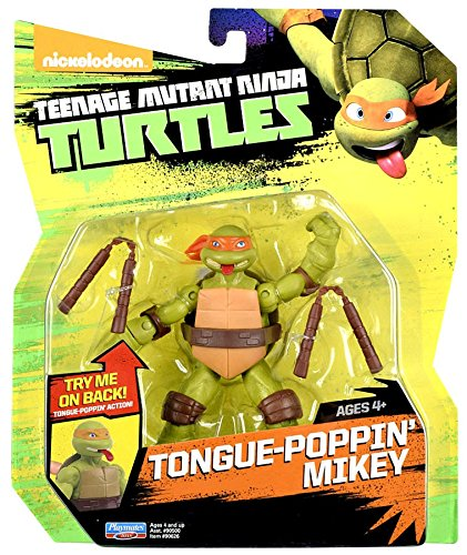 (Teenage Mutant Ninja Turtles Tongue Pop Out Michelangelo Action Figure with)