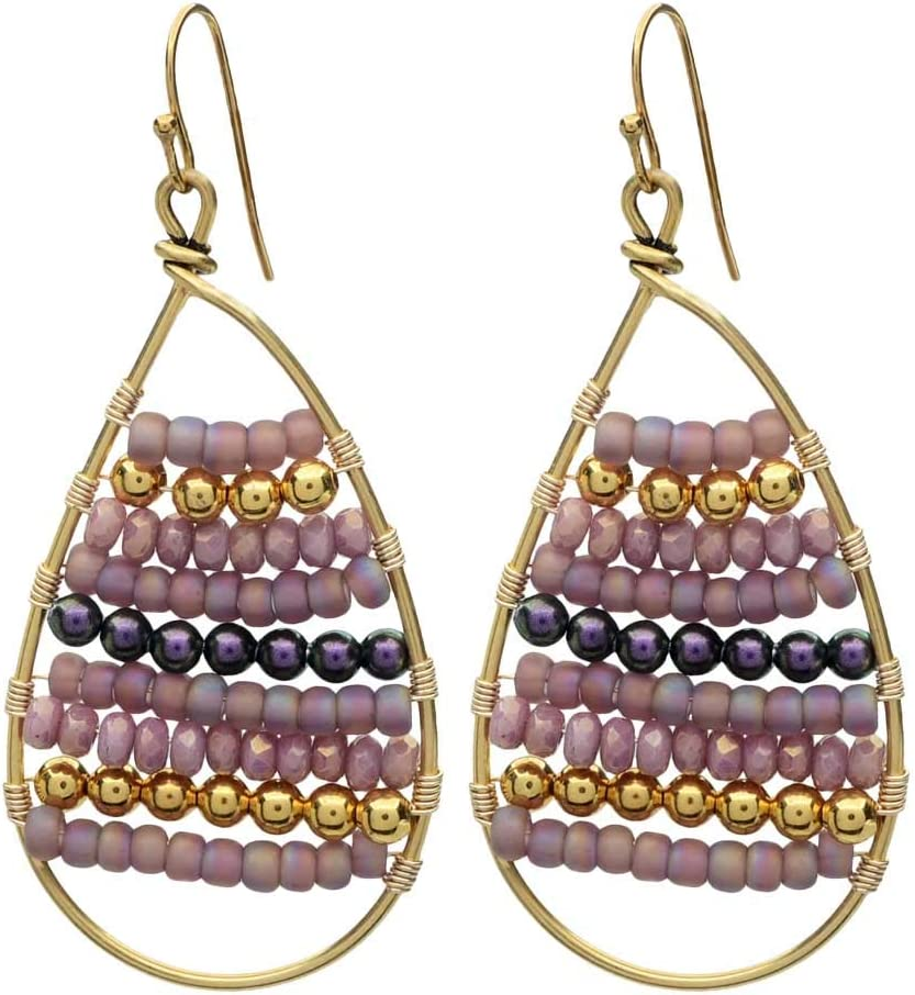 Beadaholique Calypso Wire Wrapped Earrings in Plum - Exclusive Jewelry Kit