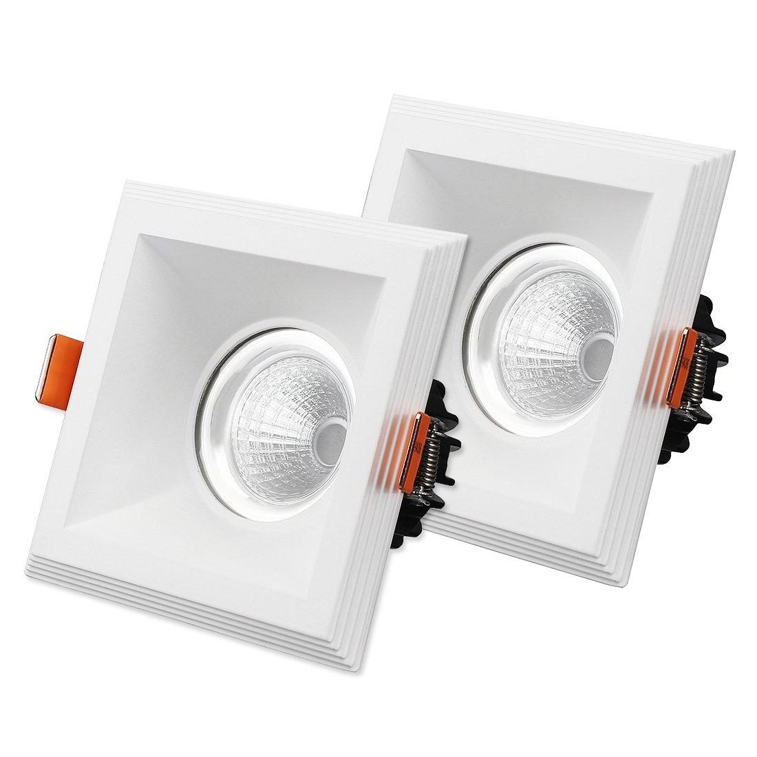 LED COB Deckeneinbauleuchte Scheinwerfer Lampe Schale 110mmx110mm Beleuchtungsbauteile Leuchtmittel sourcing map 2Stk