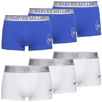 6 Stück Harvey Miller Polo Club Shorts Herren Boxershorts Unterhose in 2er Pack