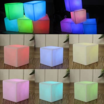 Amazon.com: Mesa de Fiesta Mesa LED cambia de color lámpara ...