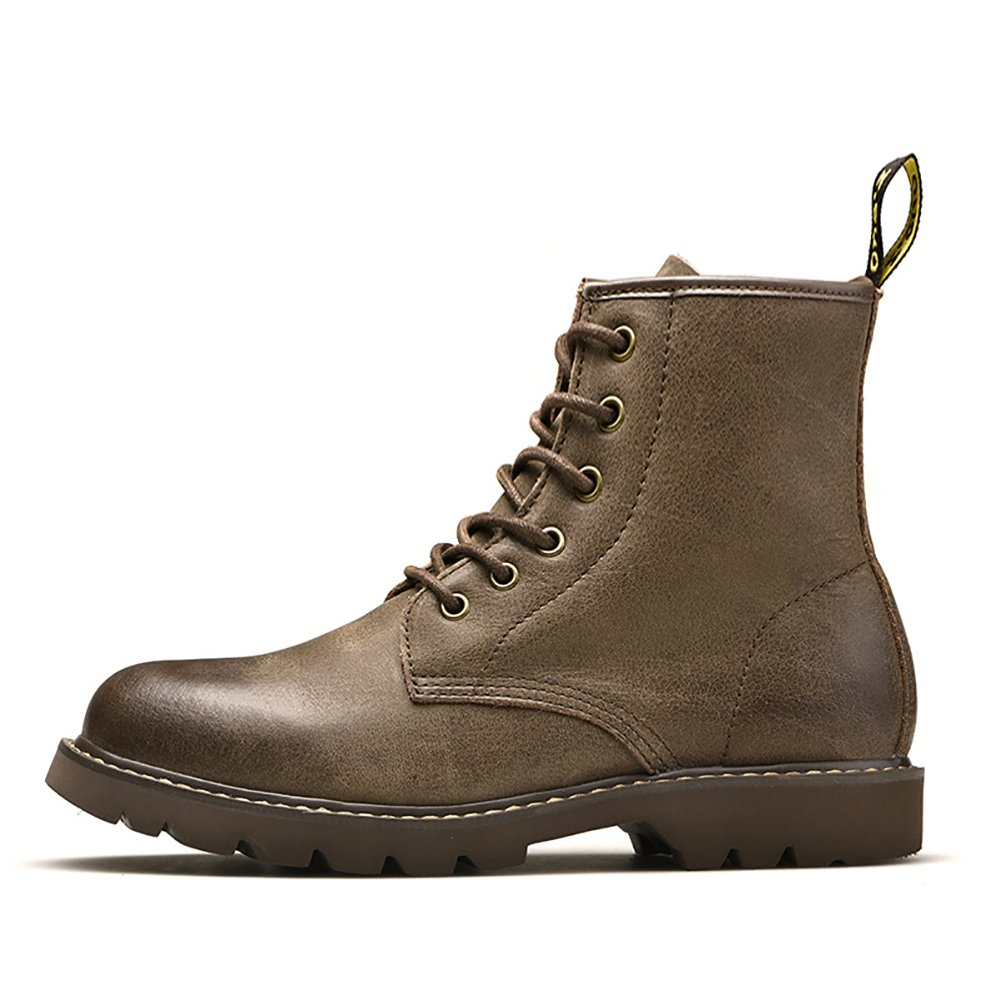 Amazon.com | Liveinu Mens Cowhide Desert Boot Lace Up Chukka Boots | Chukka