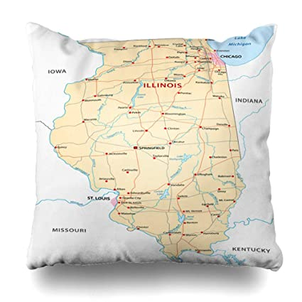 DIYCow Throw Pillows Covers Louis Illinois Map Chicago River Indiana on detailed map of illinois, underground railroad map illinois, road map illinois, location on map of illinois, usa flag illinois, zip code map illinois, weather illinois, physical features of illinois, missouri county map illinois, united states illinois, street map of batavia illinois, usa city utah, large map of illinois, 50 states illinois, map of cities in greene county illinois, map of state illinois, kansas illinois, illinois map illinois,