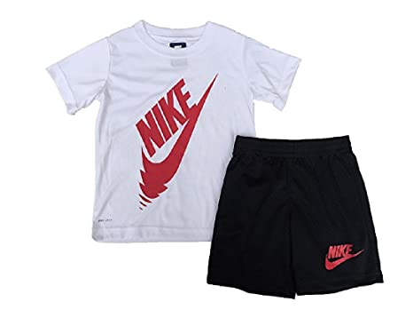 Amazon.com  Nike Baby Boys DRI-FIT T-Shirt   Mesh Shorts Set 12 ... 3f0601c72
