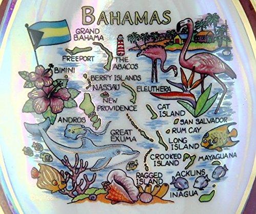 Bahamas Map Pearl Souvenir Collectible Spoon Rest agc
