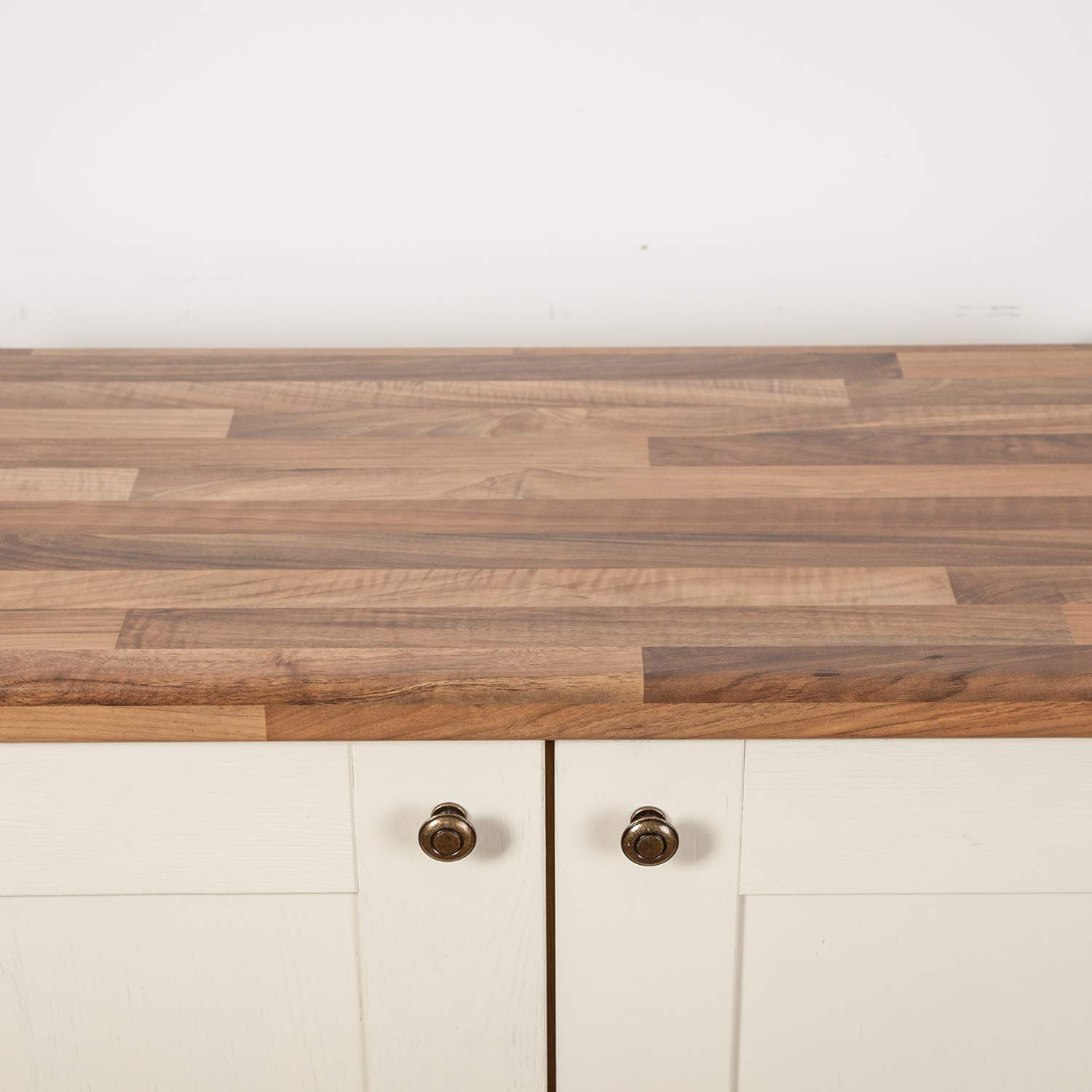 Walnut Effect Block Laminate Kitchen Worktop