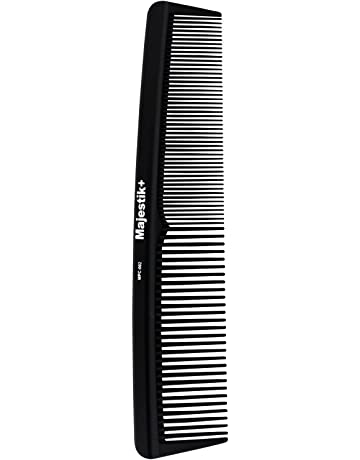 Peine de pelo - un peine de fibra de carbono de peluquería profesional de  Majestik + f89db7f2236b