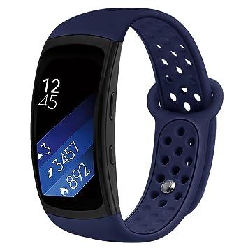 Compatible Bandes Gear Fit2 Pro / Fit2, Kmasic Remplacement en Silicone Bracelet de pour Samsung