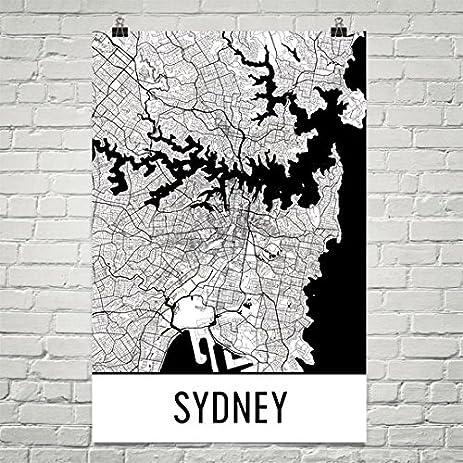 Sydney poster sydney art print sydney wall art sydney map sydney city