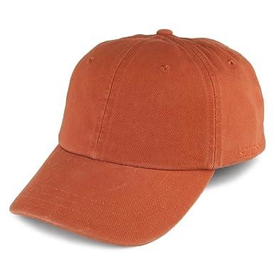Gorra de béisbol de algodón de Stetson - Ocre - Ajustable