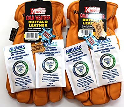 Kinco - Buffalo Leather, Cold Weather, Work Glove - 2-pack of the Toughest Most Durable, with Nikwax Waterproofing