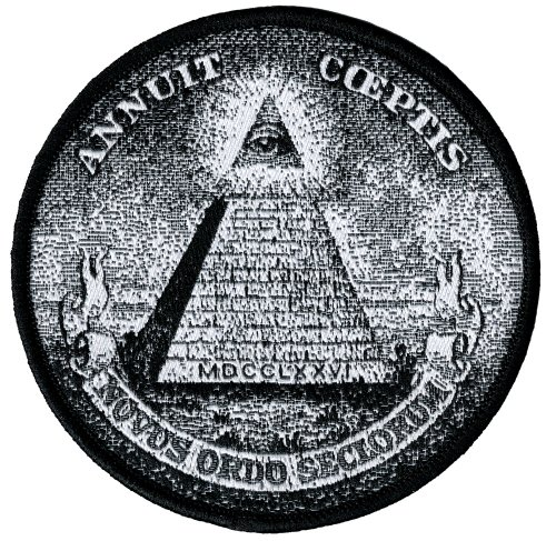 Annuit Coeptis Embroidered Patch Illuminati Great Seal Iron-On Masonic Pyramid