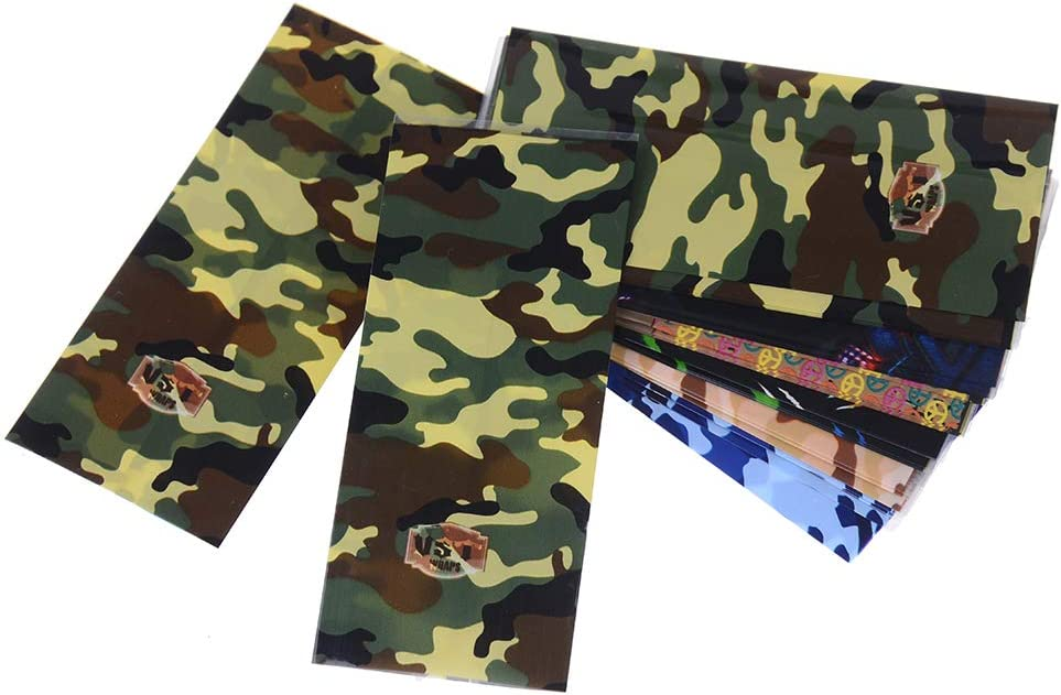 BETWEENME 5 Pcs 18650 Battery Wraps Insulators PVC Plastic Shrink Sleeve Case Camouflage PVC Heat Shrink Tube Sleeve