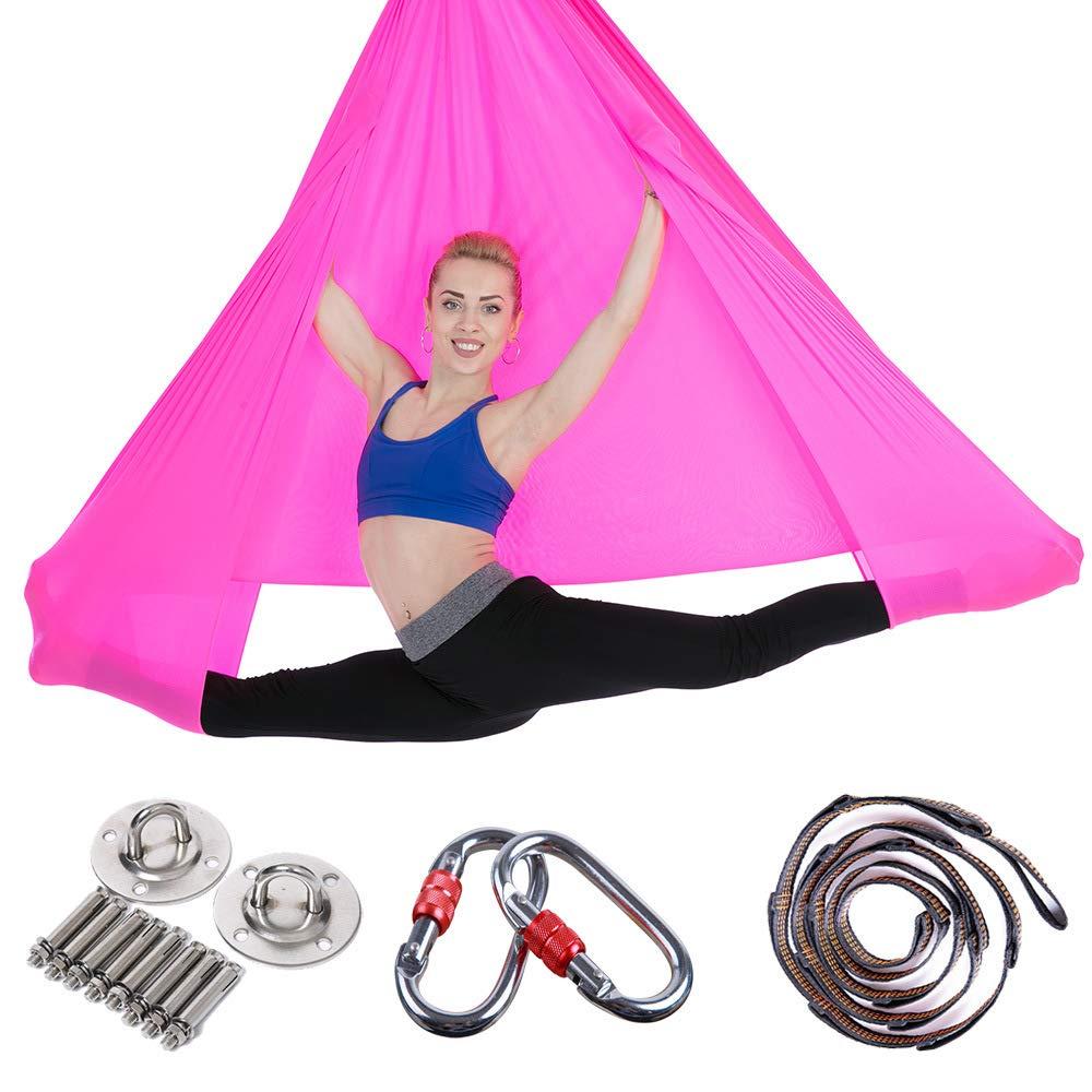 MIMI KING Yoga Hamaca aéreo Pilates Swing Set Tela de Nylon ...