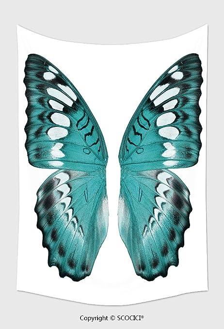 Home Decor Arazzo Da Parete Blu Farfalla Ala Isolato Su Sfondo