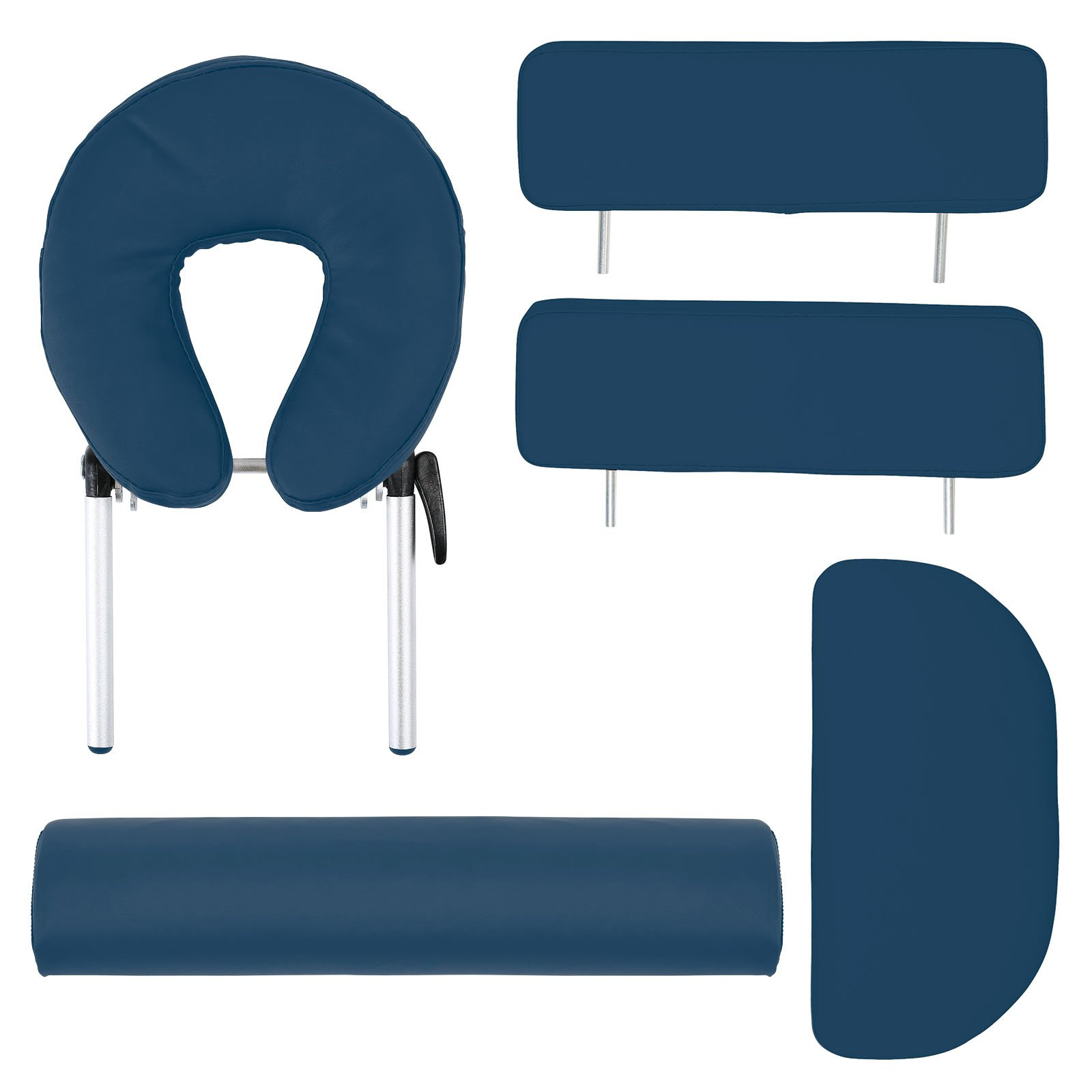 Saloniture Professional Portable Massage Table with Backrest - Blue by Saloniture (Image #4)