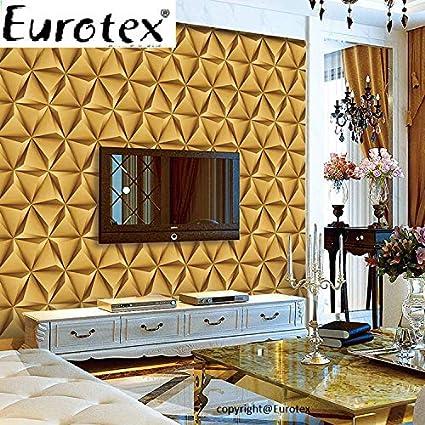 Eurotex Vinyl Coated Wallpaper (50.01 cm x 10 cm x 10 cm, Golden Yellow)