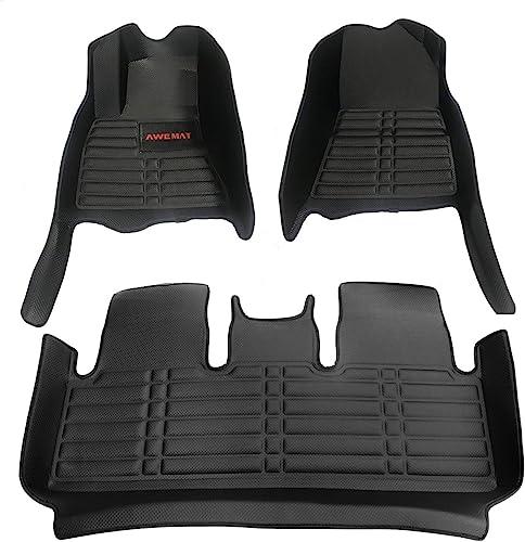 AWEMAT Custom Fit Car Floor Mats for Tesla Model 3