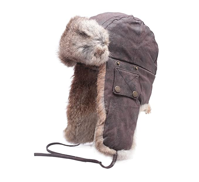 Stetson - Trapper Hat leather men Starkville - Size S marron  Amazon ... ce2d915eca64