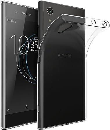 REY Funda Carcasa Gel Transparente para Sony Xperia XA1 Plus, Ultra Fina 0,33mm, Silicona TPU de Alta Resistencia y Flexibilidad: Amazon.es: Electrónica