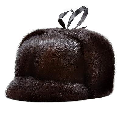 645fe18068eee Winter Fur Hats Male Import Mink Fur Straw Bomber Hats for Man ...