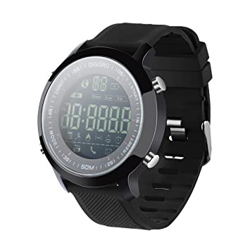 Diggro DI04 Montre Connecté IP68 Étanche Bluetooth 4.0 5ATM Smart Watch Temps de veille de 8 ...