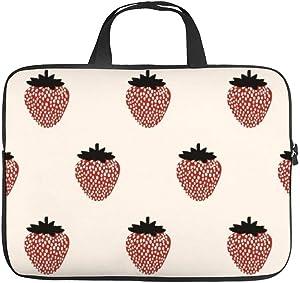 "Neoprene Sleeve Laptop Handbag Case Cover Seamless Strawberry Pattern 10 Inch Laptop Sleeve Case for 9.7"" 10.5"" Ipad Pro Air/ 10"" Microsoft Surface Go/ 10.5"" Samsung Galaxy Tab"