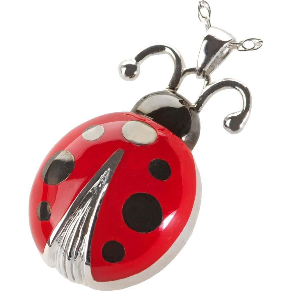 Memorial Gallery 3314 Lucky Ladybug Cremation Pet Jewelry