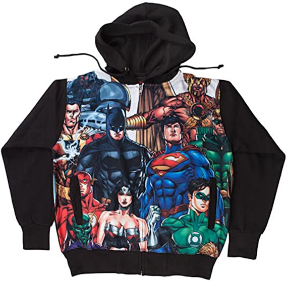 Justice League Batman Superman Flash Boys Kids Youth Hoodie Sweatshirt